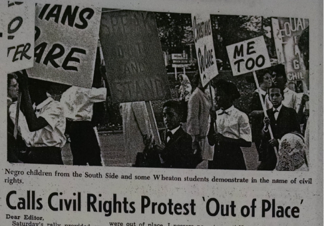 wheaton record 1964 protest