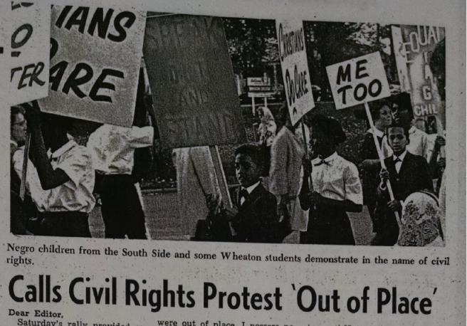 wheaton record 1964 protest